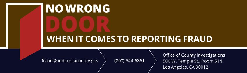 Report Fraud Banner